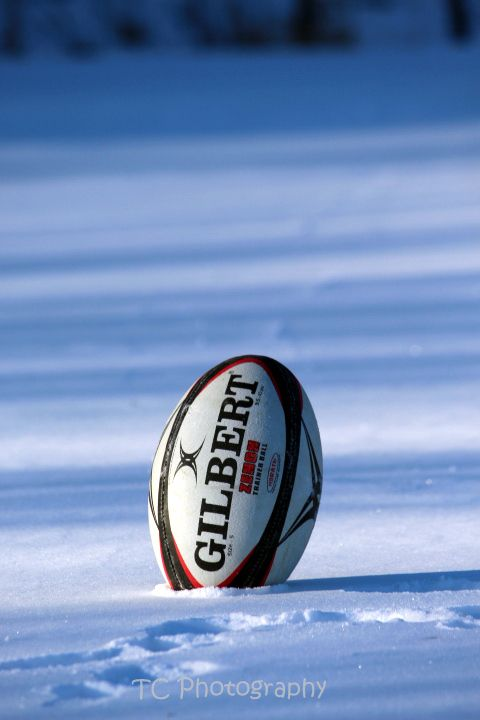 Not just any ball | #Rugby #snow #winter