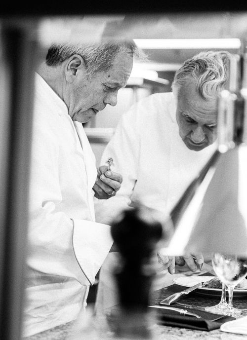 Chef Wolfgang Puck and Chef Alain Ducasse