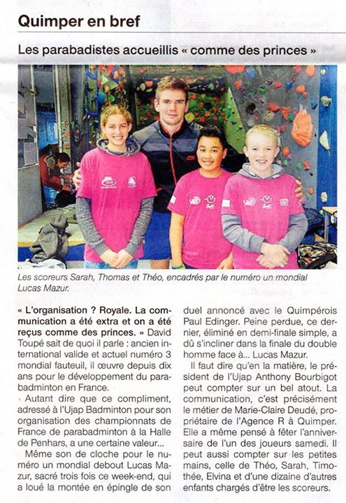 [REVUE DE PRESSE] Articles dans Ouest France et Le Télégramme aujourd'hui ! #fashion #style #stylish #love #me #cute #photooftheday #nails #hair #beauty #beautiful #design #model #dress #shoes #heels #styles #outfit #purse #jewelry #shopping #glam #cheerfriends #bestfriends #cheer #friends #indianapolis #cheerleader #allstarcheer #cheercomp  #sale #shop #onlineshopping #dance #cheers #cheerislife #beautyproducts #hairgoals #pink #hotpink #sparkle #heart #hairspray #hairstyles…