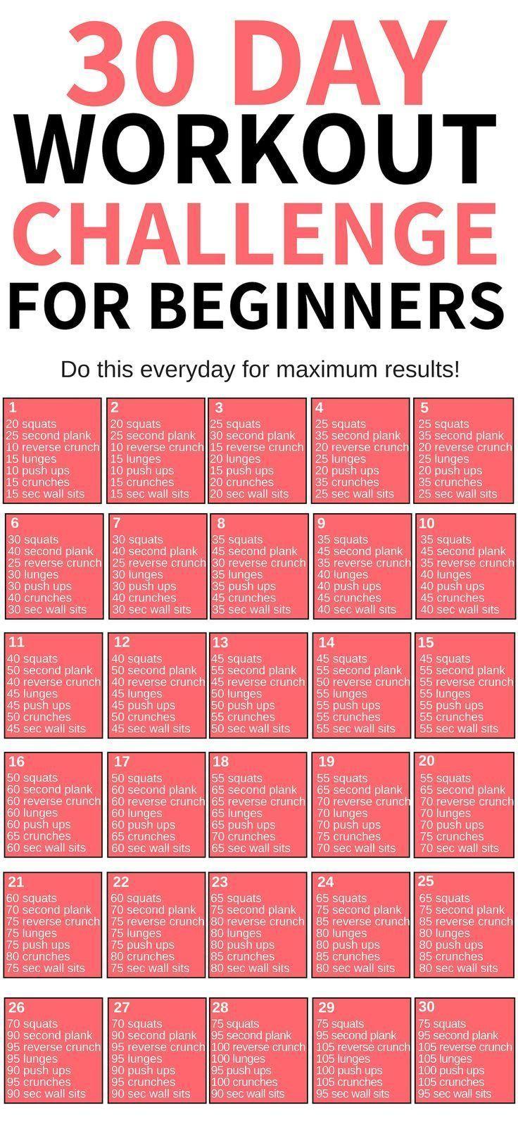30 Day Workout Challenge 30 Day Workout Challenge Workout