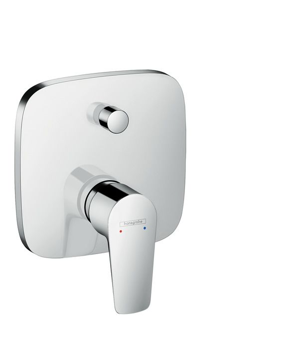 Single lever bath mixer for concealed installation with security combination