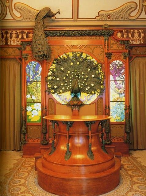 This Art Nouveau Interior Was Designed By Alphonse Mucha In 1900 For The Parisian Jeweler Georges Fouquet Has Been Reconstructed Musee