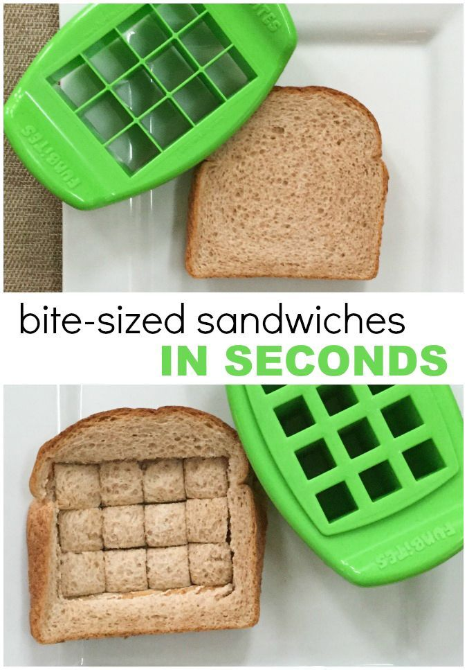 BITE SIZED Tiny Sandwich Cutter - Kid Food Fast!