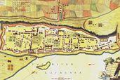 Plan de la ville de Montréal et des fortifications, 1758