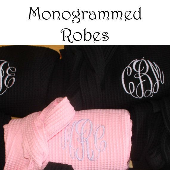 Personalized Bridesmaid Robe Set of 5 by PersonalizedGiftsbyJ