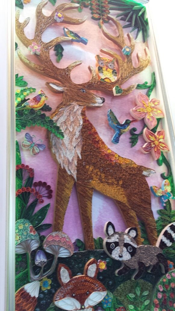 18 ft tall quilled panel at Canton Fair China 2015