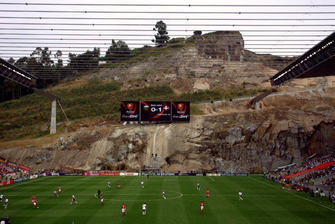 Sporting Braga: Braga Stadium... Carved Into A Mountain *Ron Burgandy