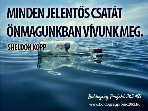 Minden jelentős csatát önmagunkban vívunk meg. - Sheldon Kopp