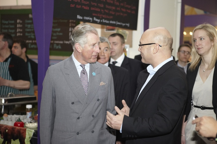 HRH The Prince of Wales speaks to Gregg Wallace our Ideal Food Ambassador.