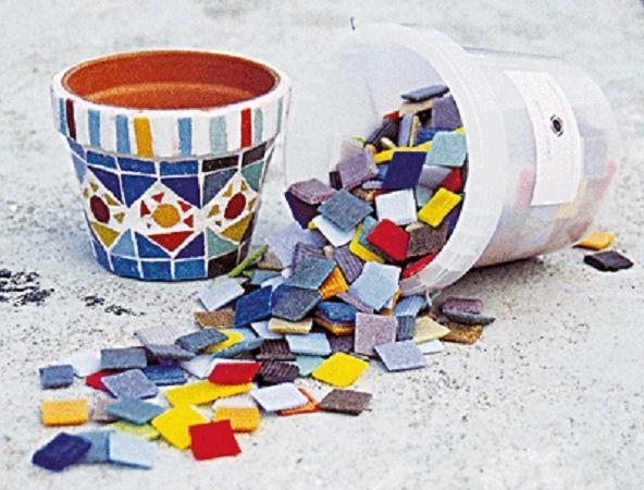 Lot 700g de mosaïque tesselles SOLARGIL 2 x 2cm : Mosaïque par jl-bijoux-creation