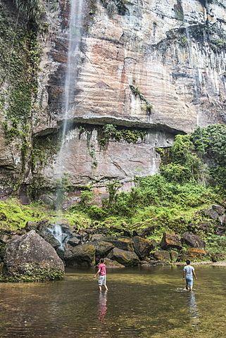Waterfall in the Harau Valley, Bukittinggi, West Sumatra, Indonesia, Southeast Asia, Asia