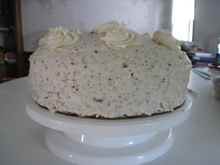 My White Chocolate Amaretto Italian Cream Cake.