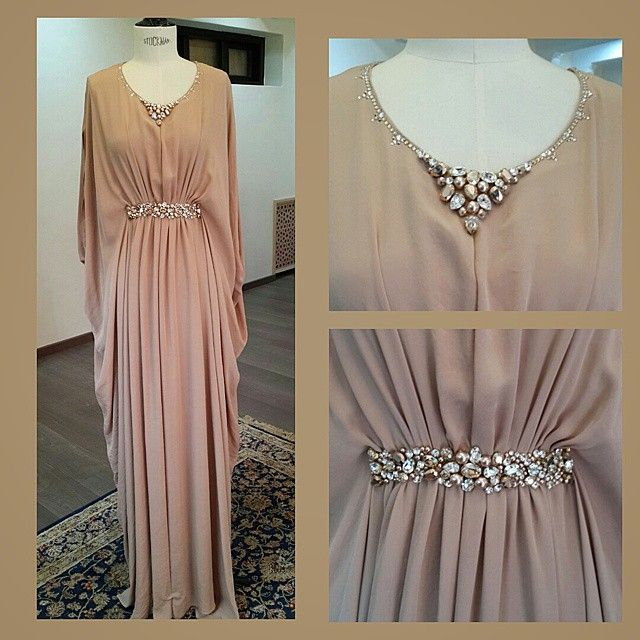 •● Lovely Pink Powder ●• #Gandoura #RosePoudré #RoseGold #GoldenShadow #Details #Swarovsky #NewInStore #Collection #Spring #2015 #Dress #Couture #MoroccanCouture  #Luxury #Fashionable #FashionAddict #Casablanca #Paris #NewYork #Dubaï