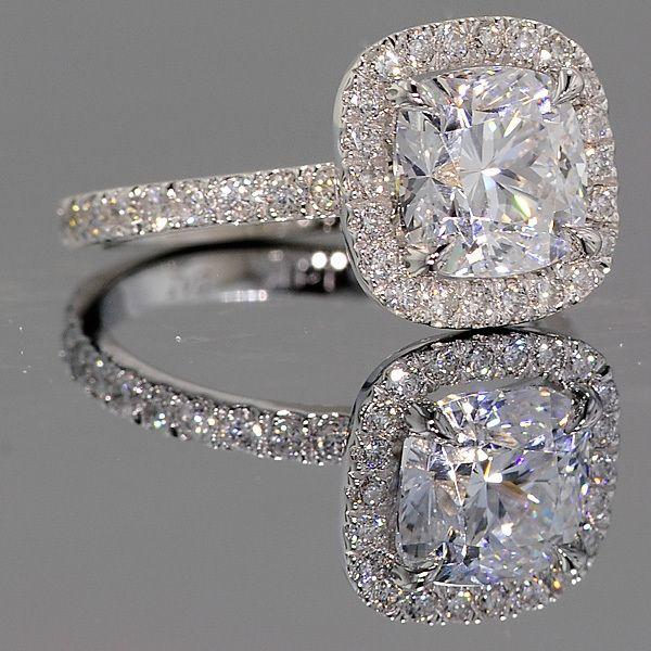 Park Avenue Halo Engagement Ring