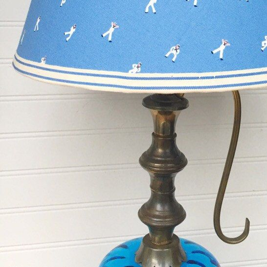 37 best handmade lamp shades made by weatherkim images on pinterest this lampshade has sailors doing semaphore how fun just listed mozeypictures Image collections
