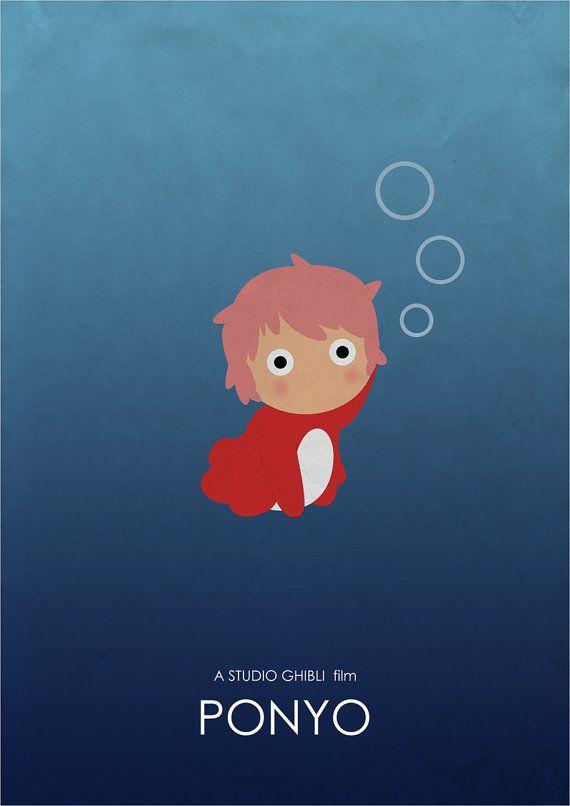 Ponyo Studio Ghibli Alternative Movie Poster