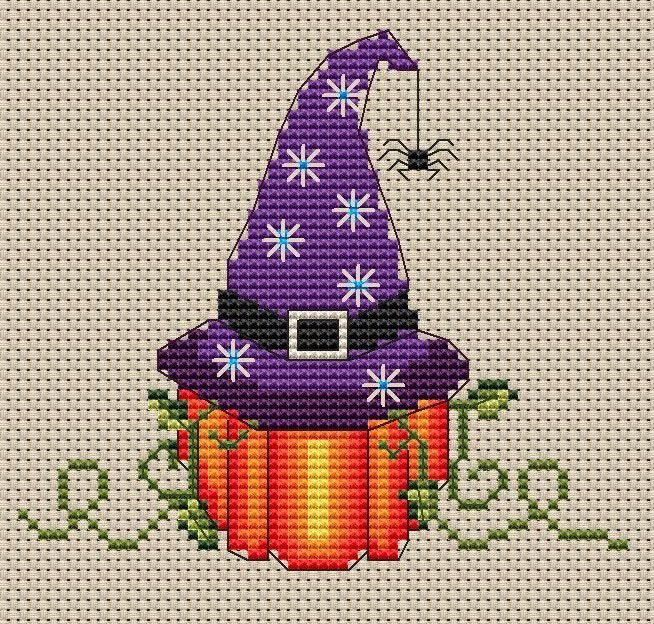 """Pumpkin Witch Mini! Such a cute halloween design! This Mini is 4.3"""" X 4"""" in size and will made a great addition to any project."""