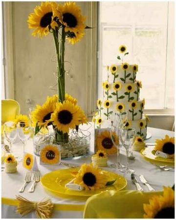 September 9 - 15 2012  Featuring Yellow Weddings    sunflower wedding bouquets