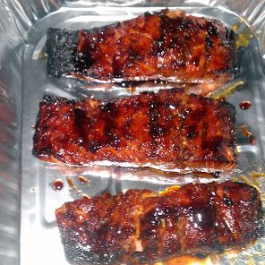 Teriyaki Salmon recipe - Make certain the soy sauce is gf or use tamari.