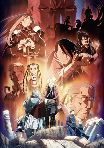 Full Metal Alchemist: Brotherhood. ~I like this one more than the first series because this does a better job of following the manga and it answers a lot of the questions I had about how some of  the characters came to be where they were on their path of destiny.