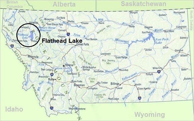 Map of Montana, Top Things To Do In Montana, Flathead Lake