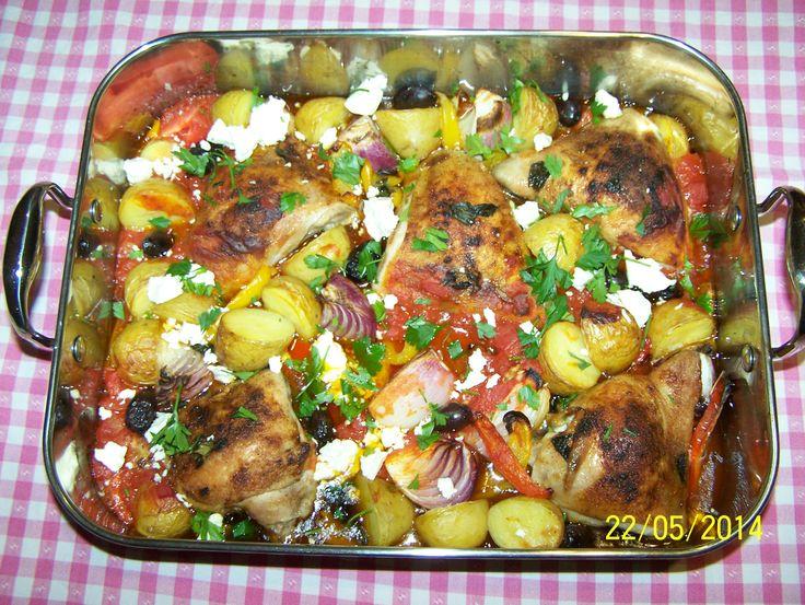 Mediterranean Chicken simple yet amazing. Find the recipe at http://www.whatscookingella.com/blog/mediterranean-chicken2
