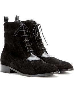 Suede Brogue Chelsea Boots