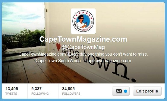 Off the cuff interaction with specific features like #CapeTownMagNew to always have new places to visit.  www.twitter.com/CapeTownMag