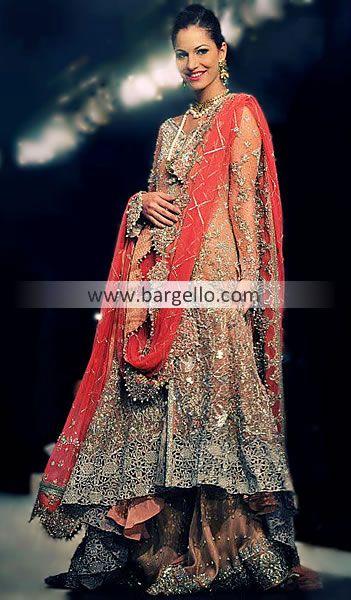 Sana Safinaz Latest Anarkali Bridal Collection 2013 Memphis Tennessee D4187 Bridal Wear