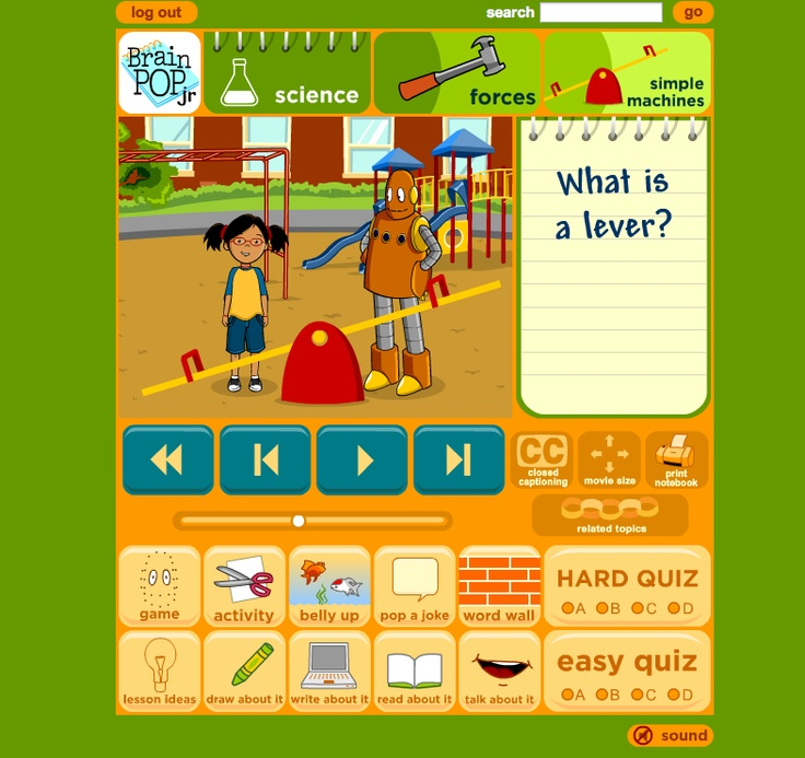 Search in brainpop. Free Stuff. MOVIE OF THE WEEK Milliliters and Liters. Classifying Animals. Bullying. Concept Maps. School. Tally Charts and Bar Graphs. Computer Programming. GameUp. BrainPOP Free Stuff. Visit.