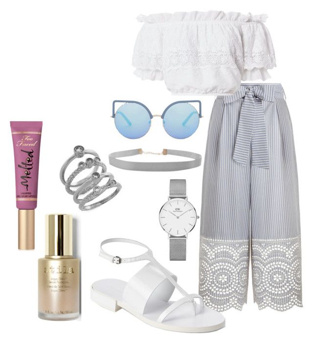 """Untitled #64"" by danielle-bell-i on Polyvore featuring Zimmermann, LoveShackFancy, Jil Sander, Cole Haan, Humble Chic, Matthew Williamson, Stila, Too Faced Cosmetics and Daniel Wellington"