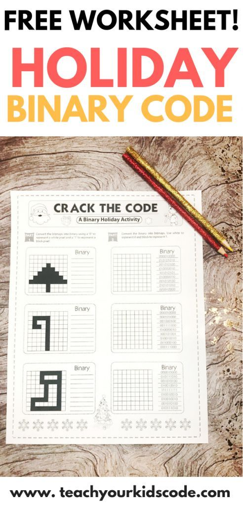 Check out this free holiday coding worksheet  Teach your