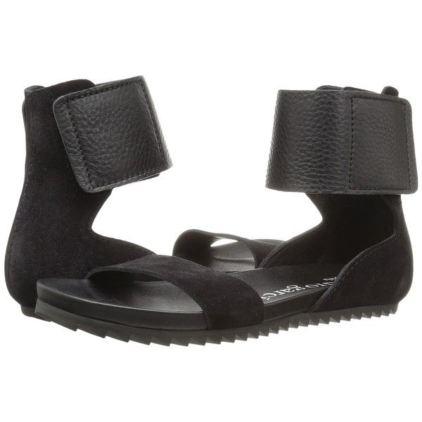 Pedro Garcia Jady (Black Castoro) Women's Sandals (18.275 RUB) ❤ liked on Polyvore featuring shoes, sandals, platform shoes, toe-loop sandals, black platform sandals, black low heel sandals and ankle strap platform sandals