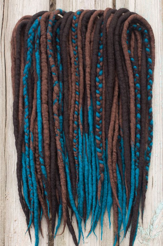 Wool Dreads and Braids Woolen Dreadlocks Ocean Foam by DreadFulCat
