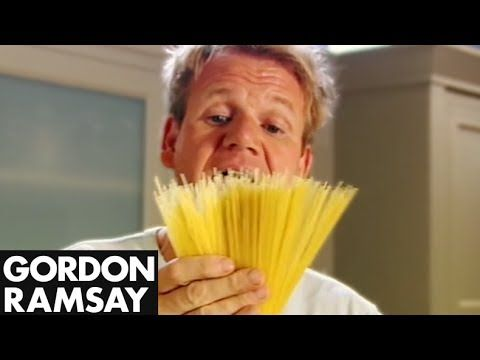 We love this 2 minute video with Gordon Ramsay on How to Cook the Perfect Pasta!!  #perfectpasta #pastarecipes #aldente
