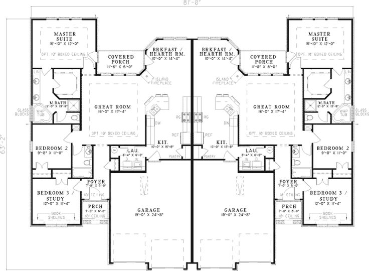 Best 25 duplex house plans ideas on pinterest duplex for Multi family condo plans