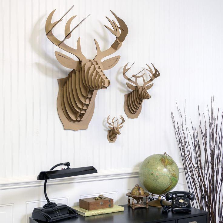 I will be getting this in white! Cardboard Safari - Bucky Deer Bust, $30.00 (http://www.cardboardsafari.com/bucky-deer-bust/)