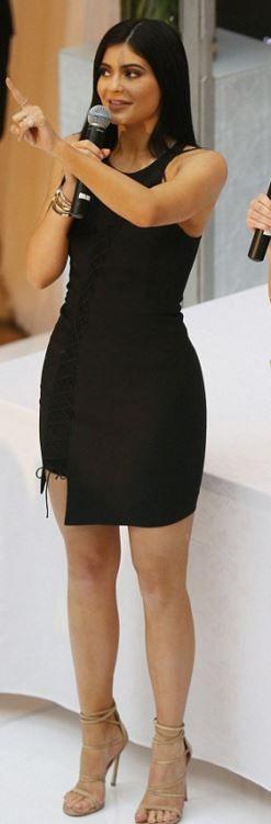 Kylie Jenner: Bracelet – Cartier  Dress – Forever New  Shoes – Stuart Weitzman