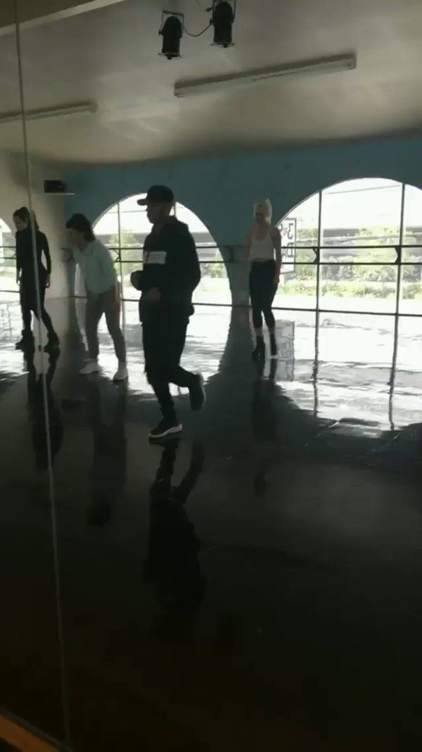 """Dove Cameron and the cast of """"Descendants 2"""" taking dance lessons."""