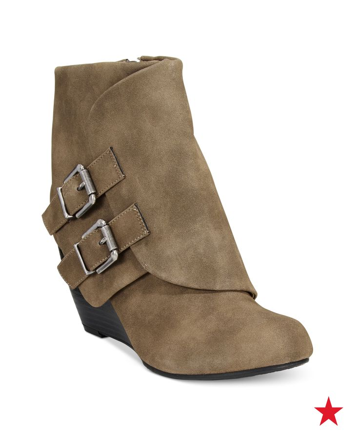 American Rag Cora Foldover Wedge Booties, Only at Macy's - Booties - Shoes  - Macy's