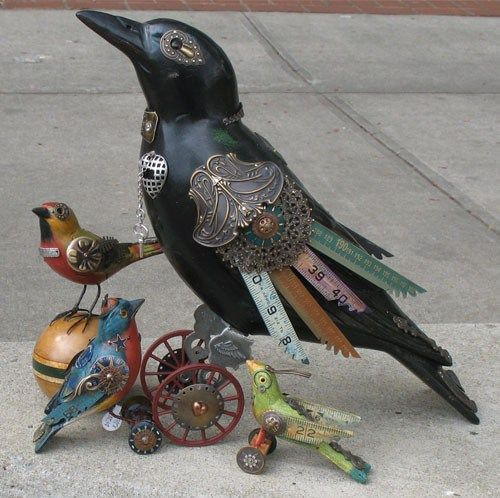 Neatorama » Blog Archive » Steampunk Birds by Jim Mullan