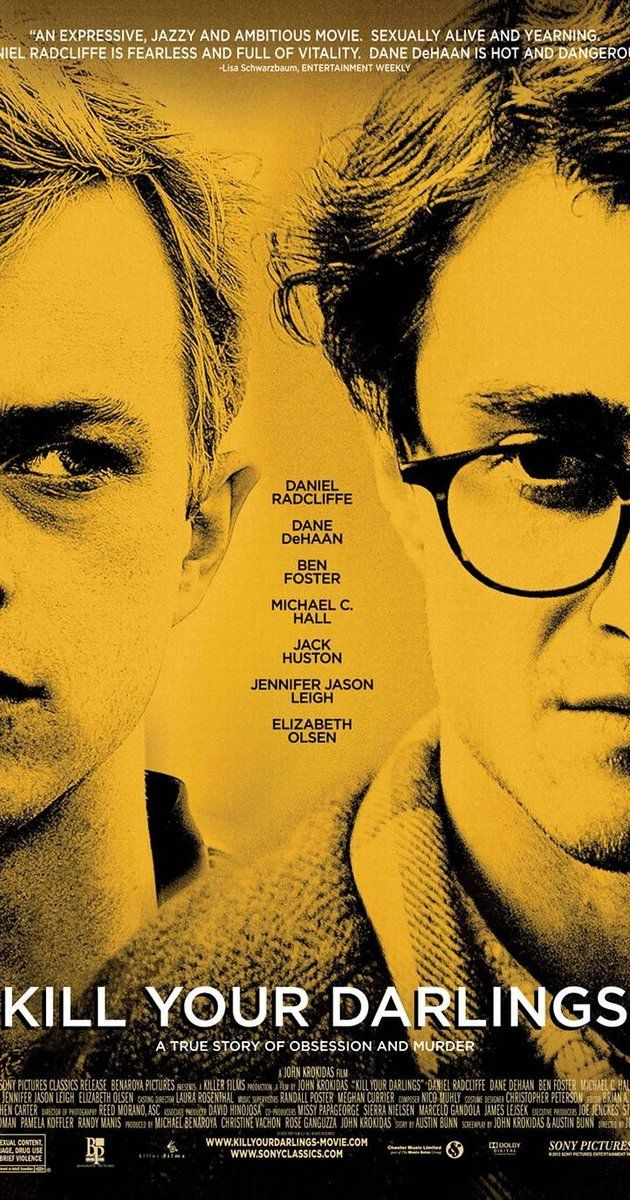 Directed by John Krokidas.  With Daniel Radcliffe, Dane DeHaan, Michael C. Hall, Ben Foster. A murder in 1944 draws together the great poets of the beat generation: Allen Ginsberg, Jack Kerouac and William Burroughs.