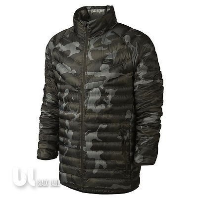 Nike Guild 550 Printed Jacke Herren Winterjacke Camouflage Jacke Daunenjacke S L