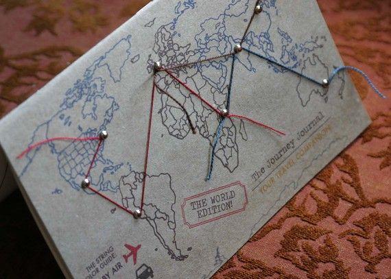 Journey Journal WORLD EDITION von crackeddesigns auf Etsy, $18.00