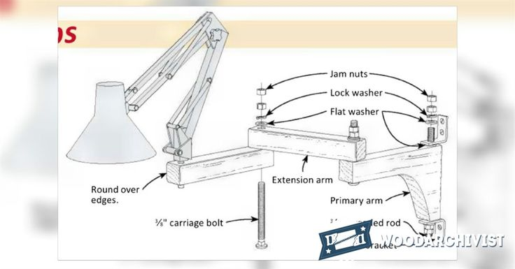 Wall Mounted Lamp Arm - Workshop Solutions Projects, Tips and Tricks | WoodArchivist.com