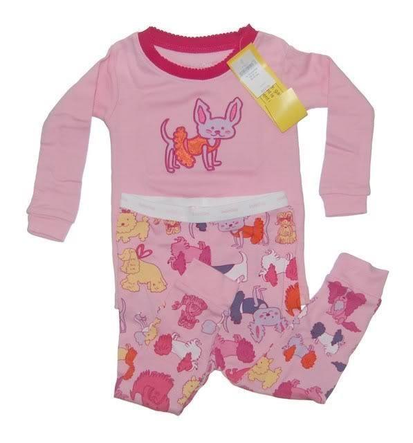 Baby Gap Girls Pink Dog Pajamas 12-18 mos NWT NEW NIP #Gap