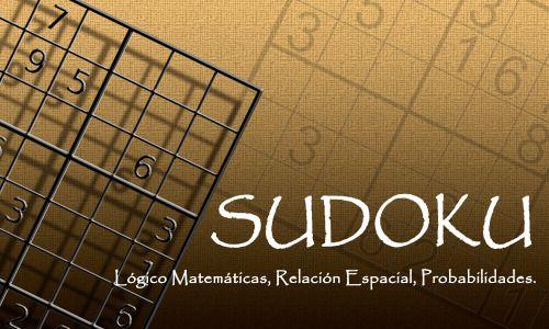 Juegos | Sudoku, Entrenamiento para la mente.  Es un juego de origen japones de la década de los 70's que se popularizó en 1986 y se dio a conocer en el resto del mundo en el año 2005. El objetivo del juego es rellenar un cuadro de 9X9 celdas. Agrupada en grupos de 3X3 celdas. Donde van los números del 1 al 9 con la regla que en la misma fila o columna no se debe repetir el mismo número.