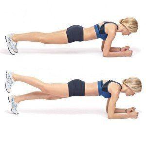 """Универсальная зарядка — всего одно упражнение!    Это очень эффективное упражнение для укрепления мышц пресса и всего тела. Называется """"планка"""". Оно поможет вам поднять тонус всех мышц и скинуть лишний вес!    Суть зарядки:  Раз в день как бы «зависать» над полом на несколько минут, опираясь лишь на руки и носки ног.    Бесспорно, находиться «в подвешенном состоянии», пусть и две минуты — задача не из легких. Зато результат не заставит себя ждать. Уже через две недели регулярных занятий вы…"""