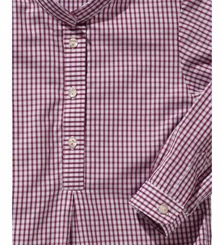 Camisa de niño a cuadros burdeos