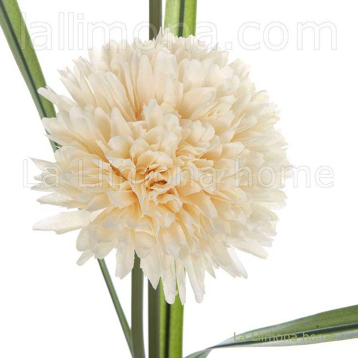 Flores artificiales. Rama artificial allium vainilla 2 flores